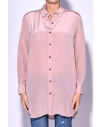 M.i.h Jeans - Oversize Shirt In Dusty Pink - Lyst