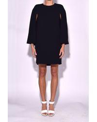 Tibi Cape Dress In Black