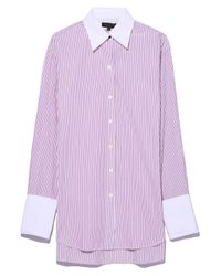 Rag & Bone Essex Shirt In Red Stripe