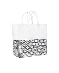 Truss - Medium Tote Bag In White/black - Lyst