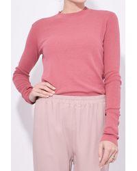 Mansur Gavriel Pink Long Sleeve Cotton Crewneck