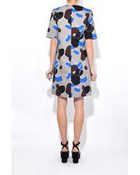 Marni Blue Short Sleeve Dress In Cord