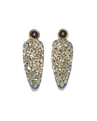 Lizzie Fortunato   Metallic Crystal Dagger Earrings   Lyst