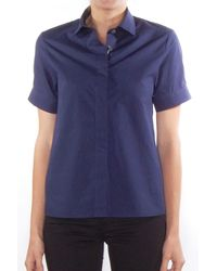 Acne Studios Blue Morag Pique Shirt In Navy