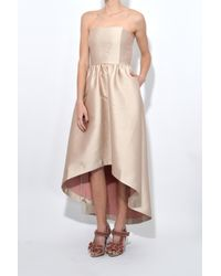 Co. - Pink Strapless Hi-low Dress In Rose - Lyst
