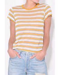 Rag & Bone Multicolor Avery Short Sleeve Top