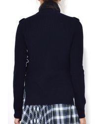 N°21 - Blue Turtleneck Sweater In Navy - Lyst
