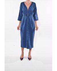 Mara Hoffman Blue Annetta Dress In Light Denim