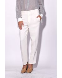 Giada Forte - Multicolor Double Crepe Pants In Riso - Lyst