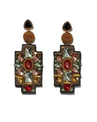 Lizzie Fortunato Multicolor Madonna Crystal Earrings