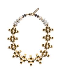 Lizzie Fortunato | Metallic Arena Necklace | Lyst