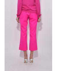 Altuzarra - Pink Nettle Pant In Hibiscus - Lyst