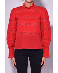 Étoile Isabel Marant Ria Top In Red