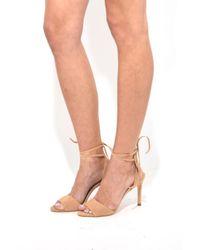 Loeffler Randall | Natural Elyse Ankle Tie Sandal In Nude | Lyst