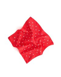 Alex Mill Red Multi Dots Silk Scarf In Ecru/tomato