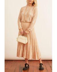 Proenza Schouler Multicolor Woodgrain Jacquard Skirt