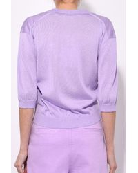 Tibi - Purple Crispy Sweater Polo In Lavender - Lyst