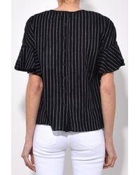 10 Crosby Derek Lam - Ruffle Sleeve Top In Black - Lyst