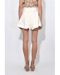 Zimmermann - Natural Painted Heart Lace Up Short In Cream - Lyst