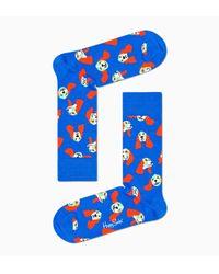 Happy Socks Springer Spaniel Sock in het Blue