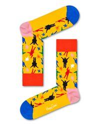 Helping Hands Sock Happy Socks de color Yellow