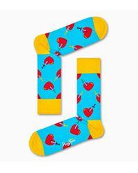 Happy Socks Broken Heart Sock in het Blue