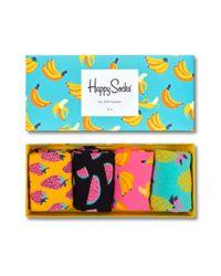 Fruit Socks Gift Box di Happy Socks in Blue