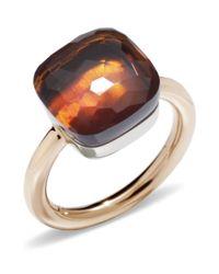 Pomellato - Metallic Nudo Madeira Quartz Maxi Ring - Lyst