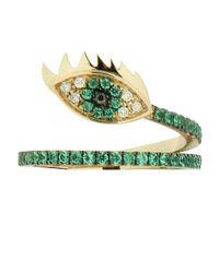 Delfina Delettrez - Green Marry Me Eye Emerald Ring - Lyst