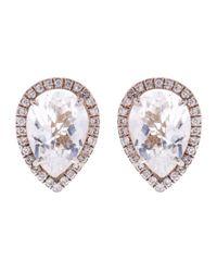 Susan Foster - Metallic Diamond And Topaz White Gold Earrings - Lyst