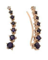 Bee Goddess - Blue Mondrian Sapphire Ear Cuffs - Lyst