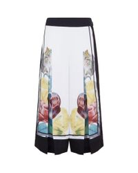 Ted Baker - White Culot Floral Cropped Culottes - Lyst