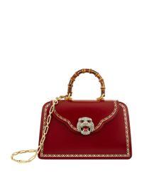 Gucci Red Medium Gatto Top Handle Bag