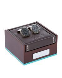 Tateossian - Black Round Drusy Cufflinks for Men - Lyst
