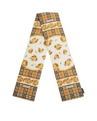 Burberry Yellow Archive Puffer Scarf