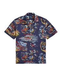 Ralph Lauren Blue Classic Fit Dive Print Shirt for men