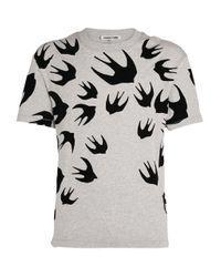 McQ Alexander McQueen Gray Swallows T-shirt for men
