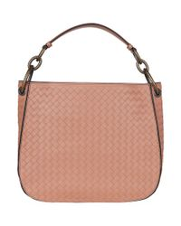 Bottega Veneta Multicolor Small Leather Intrecciato Loop Bag