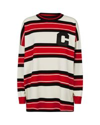 Claudie Pierlot Red Bold Stripes Sweater