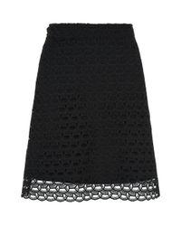 Sandro Black Lace Mini Skirt