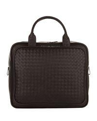 Bottega Veneta Brown Intrecciato Leather Briefcase for men