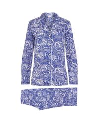 Derek Rose - Blue Animals Cotton Pyjamas - Lyst