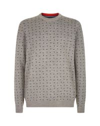 Ted Baker Natural Crazy Geometric Pattern Sweater for men