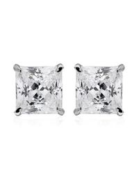 Carat* - Metallic 0.5ct Princess Studs - Lyst
