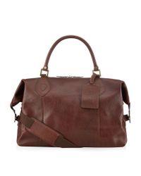 Barbour | Brown Leather Travel Explorer Bag for Men | Lyst