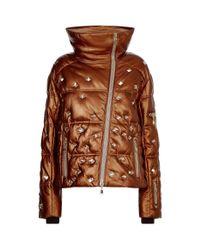 Bogner - Metallic Embellished Leather Padded Coat - Lyst