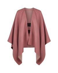 Burberry - Pink Reversible Merino Wool Poncho - Lyst