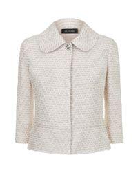 St. John - Pink Cropped Tweed Jacket - Lyst