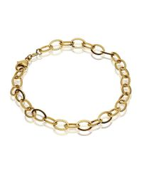 Theo Fennell Metallic Yellow Gold Outline Link Bracelet