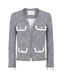 Claudie Pierlot Gray Tweed Jacket